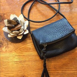 Mossimo Black Faux Leather Zip Mini Purse (NWOT)